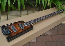 Left Handed 4 Strings Headless Electric Bass Guitar In Brown BJ-67