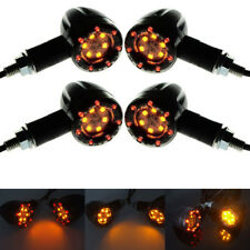 4pcs Universal Motorcycle LED Amber Lamp Rear Turn Signal Brake Light Indicator