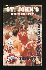 Zendon Hamilton--St John's Red Storm--1996-97 Basketball Pocket Schedule