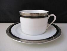 "DESHOULIERES ATHOS BLACK CUP & SAUCER 2 1/8"" -1406C"