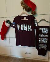 Victorias Secret PINK Bling Campus pant &Tee Shirt Bling Set  💕💕💕💕Set