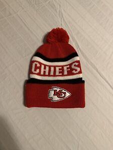 Kansas City Chiefs NFL Red Whitaker Knit Cuff Cap w/ Pom Brand New