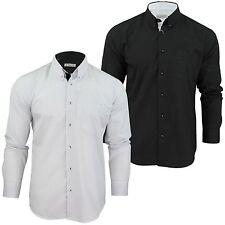 Gepunktete Langarm Herren-Freizeithemden aus Baumwolle
