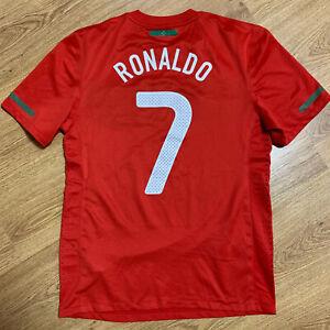 Portugal 2010/2011 Home Football Shirt Jersey Ronaldo #7 Size L Adult