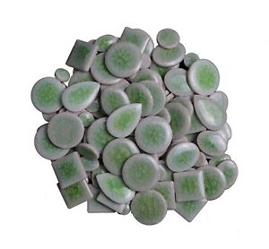 Green Ultra-thin Ceramic Mosaic Tiles Tessera For Wall Arts DIY Hand Crafting