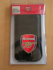 Arsenal Football Club Official Smart Phone Pouch Small Black PU Leather Iphone4
