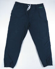 Vintage 90s Nautica Mens Blue and Green Spell Out Windbreaker Track Pants XL
