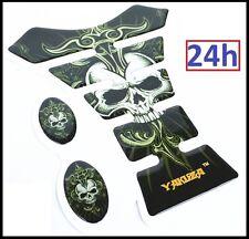 Protection de Réservoir MOTO Sticker adhésif autocollant Devil Crâne Diable NOIR