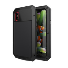 For iPhone XS 8 7 6 5 Shockproof Heavy Duty Armor Tough Hybrid Metal Case Cover