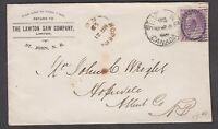 "NEW BRUNSWICK SPLIT RING TOWN CANCEL COVER ""HOPEWELL"""