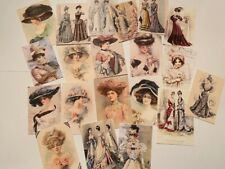 Vintage Style Die Cuts/Gift Tags-Edwardian Ladies-Victorian-Cards-Journals 60pcs