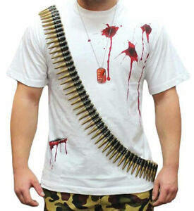 Fake Bullet Belt With 96 Bullets Unisex Adult Fancy Dress Party Toy Accessory