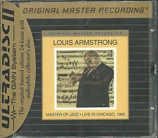 Armstrong, Louis Master of Jazz Live in Chicago 1962 MFSL Gold CD neuf emballage d'origine seal