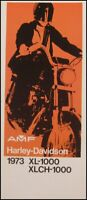 1973 Harley-Davidson ORIGINAL Sportster XL XLCH-1000 Brochure Motorcycles