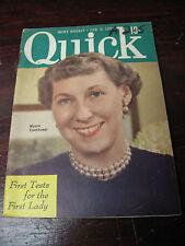 QUICK  NEWS WEEKLY  FEB    1953  MAMIE EISENHOWER  WORLD  FASHION KIRK DOUGLAS