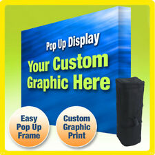 Custom Display Booth Backdrop 10 Ft Trade Show Straight Pop Up Exhibit