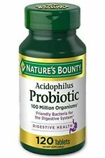 Acidophilus Probiotic Nature's Bounty Supplement Digestive Health 120 tablets