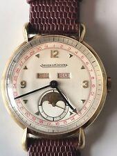 Jaeger LeCoultre Master Moonphase Triple Calendar Solid 18K Gold Vintage Watch