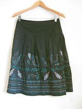 Portmans Size 6 Black Beaded Cotton Cocktail Skirt