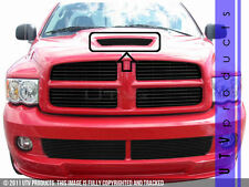 GTG 2004 - 2006 Dodge Ram SRT10 1PC Gloss Black Overlay Hood Scoop Billet Grille