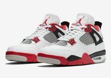 Nike Air Jordan 4 Retro Shoes Fire Red White Black DC7770-160 Men's or GS NEW