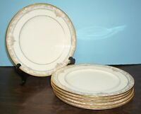 "LOT OF 6 NORITAKE BARRYMORE DINNER PLATES 10.5"" NEVER USED FREE US SHIPPING"