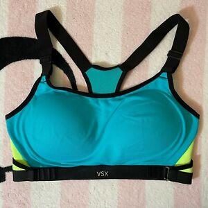 Victoria's Secret Sport Black Seychelles VSX Ultimate Cross Train Sports Bra 36B