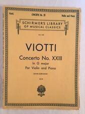 Viotti Concerto No. Xxii in G Major for Violin and Piano
