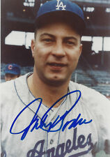 DODGERS Johnny Podres signed 3 1/2 x 5 photo AUTO Autographed Los Angeles