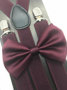 Adult Suspender + Bow-Tie Wedding Matching Set for Adults Men Women (USA Seller)
