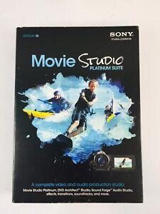 Sony MOVIE STUDIO PLATINUM SUITE Version 12 2012 Windows Vista Video & Audio