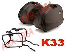 KIT VALIGIE LATERALI K33 + TELAIO KAWASAKI VERSYS 650 2006-2009  PLX447