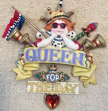 "Kurt Adler Mary Engelbreit Queen For The Day 5"" x 5"" Christmas Tree Ornament You"
