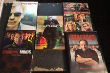 """Crime"" Lot Of 5 Great DVD Box Sets, Sopranos,CSI:Miami,Criminal Minds"