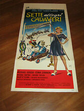 LOCANDINA,1961,Sette allegri cadaveri What a Carve Up!,Shirley Eaton,Jackson