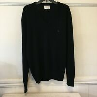 VINTAGE Christian Dior Extra Large Men's Navy V-Neck Made In USA XL Sweater EUC
