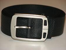New Mens Black Leather Belt Size 36  -  91cm     (B105)