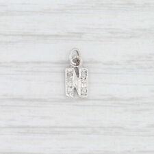 """Diamond Letter """"N"""" Charm 14k White Gold Initial Pendant"""