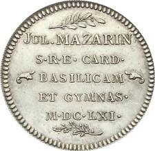 O3679 RARE Jeton Mazarin Minitre 1661 Louis XIV Argent Silver SUP ->Faire offre