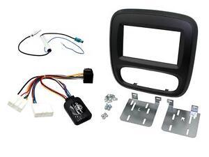 Panneau Set Moniteur de Radio GPS Double 2 din Opel Vivaro Renault Trafic