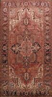 Antique Geometric Vegetable Dye Heriz Serapi Hand-knotted Area Rug Wool 8'x12'