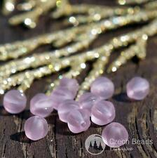 Matte Purple Czech Glass Round Melon Beads Carved Spacer 5mm 60pcs