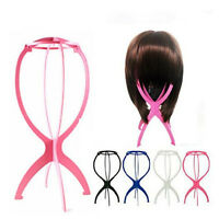 New Folding Plastic Stable Durable Wig Hair Hat Cap Holder Stand Support Display