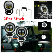 1 Pair 3INCH 20W Round LED Work Light Bar Spot Driving Fog Offroad 4WD Car Truck