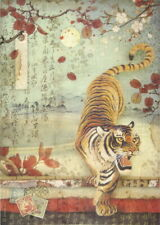 Rice Paper for Decoupage Scrapbook Craft Sheet Tiger