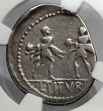 Roman Republic King Tatius of ROME Abducting SABINE WOMEN Silver Coin NGC i59925