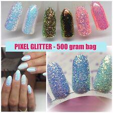 CINDERELLA PIXEL GLITTER NAILS ART  AB IRIDESCENT Trend Mirror 500 gram