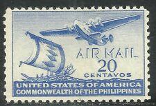 U.S. Possession Philippines Airmail stamp scott c60 - 20 cent 1941 issue mlh #10