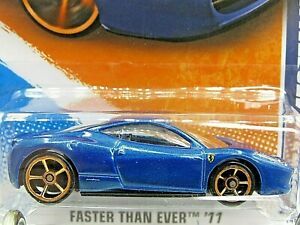 HOT WHEELS VHTF 2011 FASTER THAN EVER SERIES FERRARI 458 ITALIA