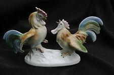 "Figurine ""Coqs Combattants/Hahnenkampf"" - Porcelaine allemande Wagner & Apel GDR"